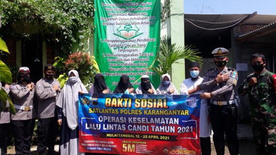 Bakti Sosial Bhayangkari Polres Karanganyar ke Ponpes Tahfidzul Qur'an Ar Rabbani