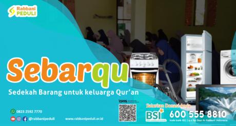 Sedekah Barang untuk Keluarga Quran